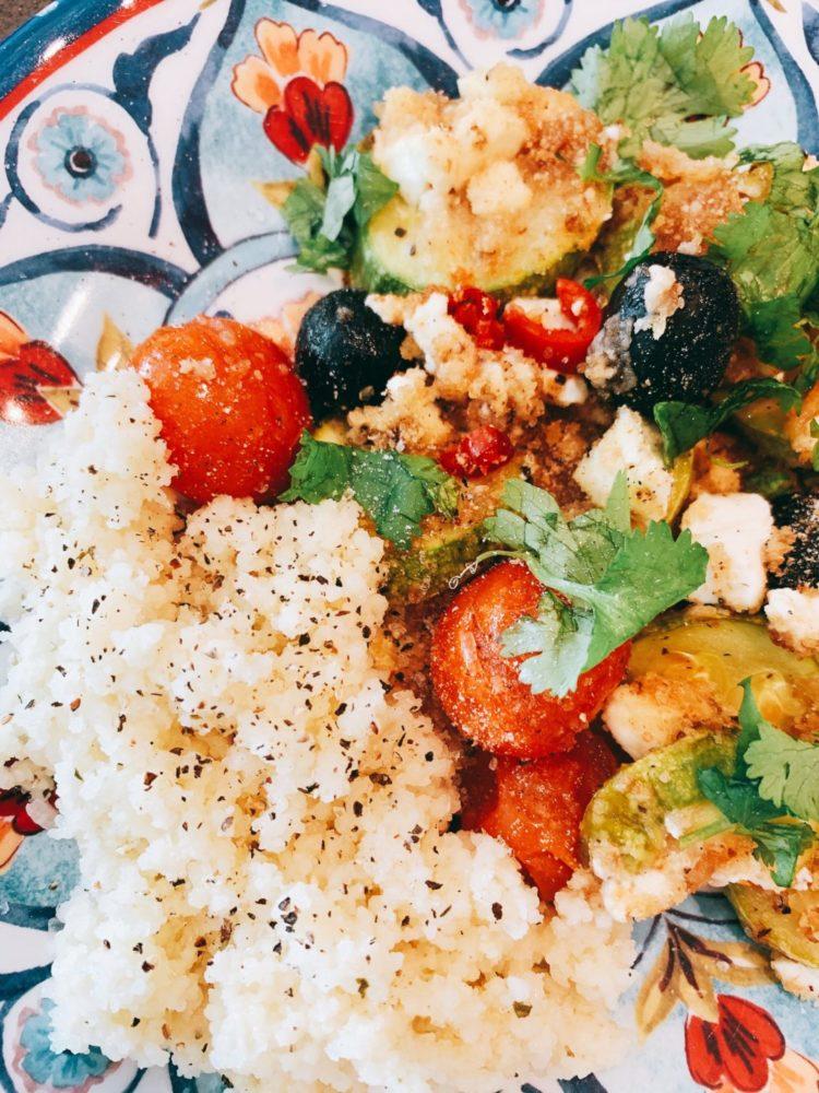 lifestyle redesign  - IMG 8677 1 scaled - Self-Isolation Recipe Sunday: Roasted Zucchini with Feta and Olives